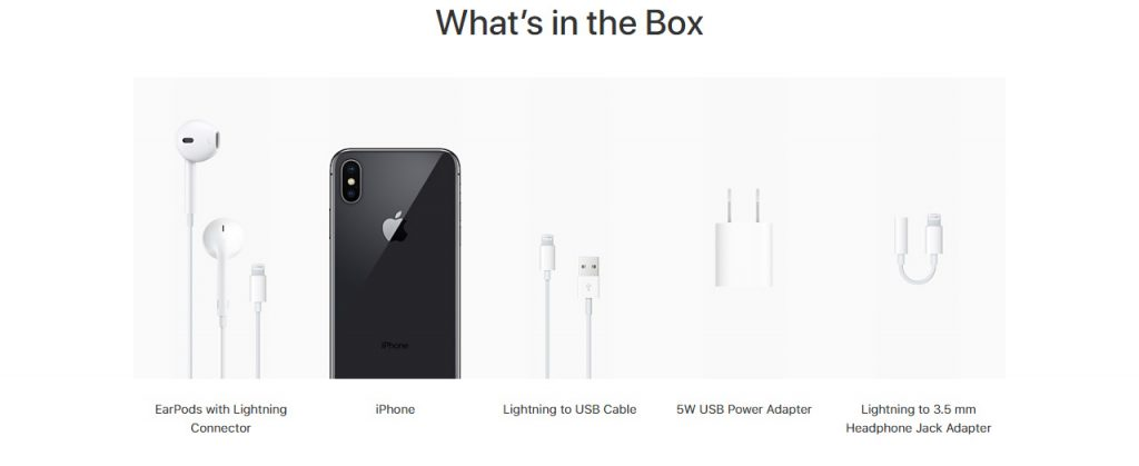 iPhone X - Whats is in the Box
